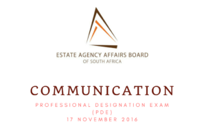 Century 21 National Training Academy South Africa  Communication from the EAAB – PDE 17 November 2016