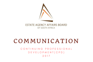 Century 21 National Training Academy South Africa  Communication from the EAAB – CPD 2017