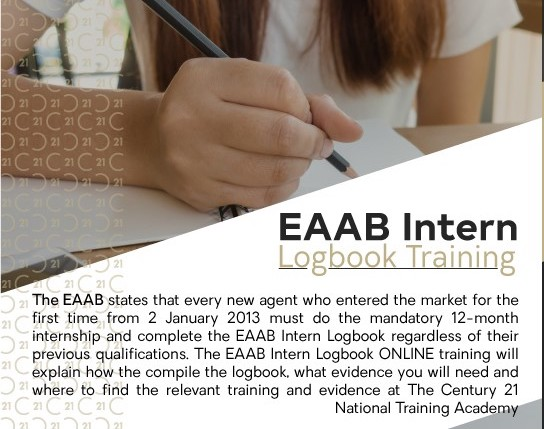 Century 21 National Training Academy EAAB Intern Logbook Training